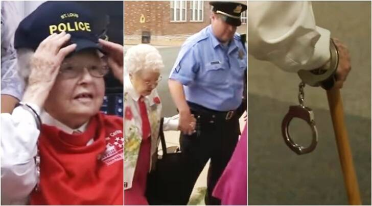 old woman gets arrested, old woman arrest bucket list, old woman bucket list to get arrested, old woman dreams to get arrested, indian express, indian express news