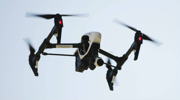 drones, drones in India, mapping indian cities, land records in India, India news, Indian Express