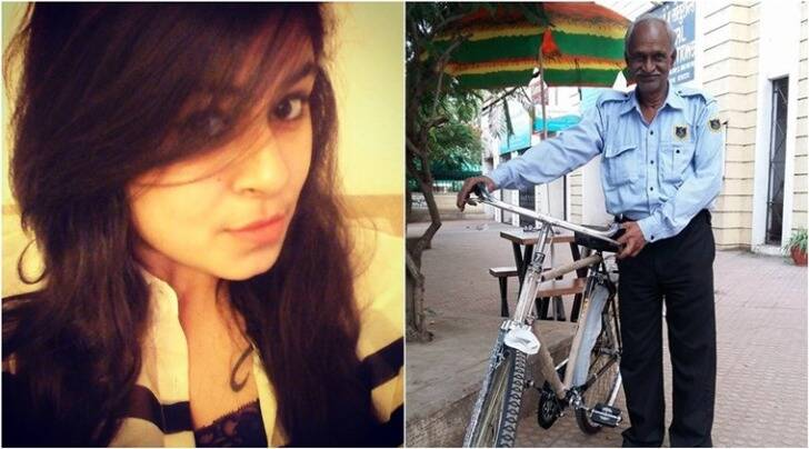 woman crowdfunds security guard bicycle, security guard gets new cycle, woman buys security new cycle in pune, trending in india, indian express, indian express news