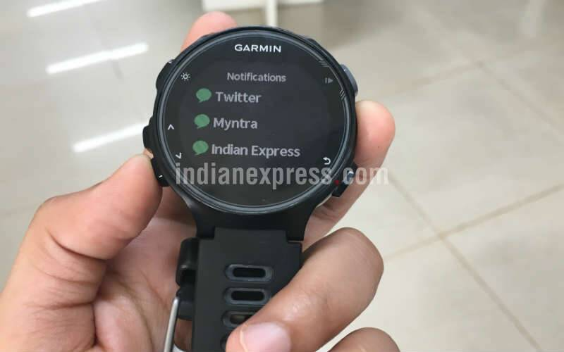 Garmin, Garmin Forerunner 735XT, Garmin Forerunner 735XT review, Garmin Forerunner 735XT features, Garmin Forerunner 735XT specs, Garmin Forerunner 735XT price, smartwatch, fitness tracker, garmin fitness tracker, jitbit, hawbone, swimming fitness tracker, cycling fitness tracker, technology, technology news, indian express review