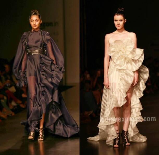 AIFW SS17: Malini Ramani keeps it monochrome, Gauri & Nainika play it up with ruffles