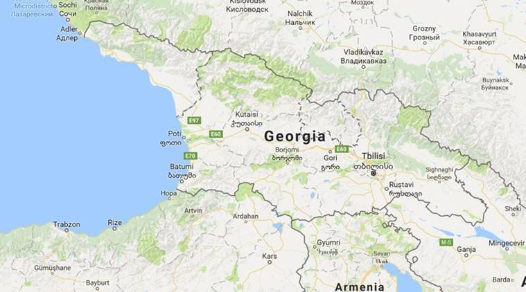 Election In ExSoviet Georgia Seen As Test Of Stability After - Georgia map test