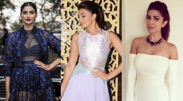 Glamour at its best: Sonam (L), Jacqueline (C) and Nimrat stole the show with their beautiful outfits.
