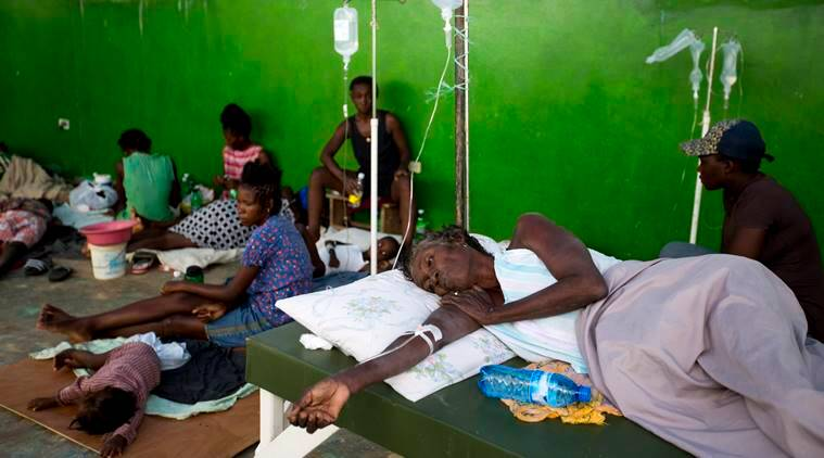 Haiti cholera, Indian soldiers in Haiti, Indian soldiers vaccination, cholera vaccination, Indian soldiers, world news, indian express