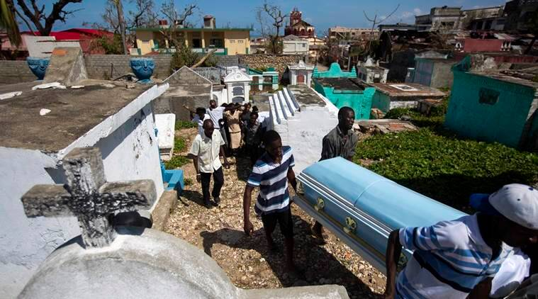 hurricane matthew, hurricane matthew death toll, hurricane matthew haiti, hurricane matthew haiti cholera, hurricane matthew deaths, hurricane matthew deaths, hurricane matthew update, hurricane matthew latest, world news, indian express,
