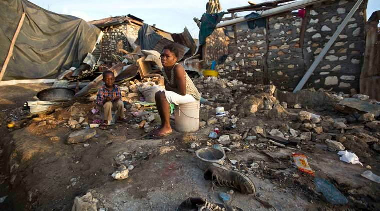 hurricane matthew, hurricane matthew haiti devastation, devastation matthew, haiti cholera, un haiti, haiti un, world news, indian express,