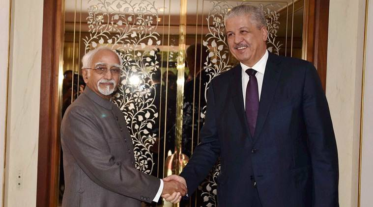 Hamid Ansari, India vice president Hamid Ansari, Ansari, hungary, Algeria, Ansari tour, World news, Indian express news