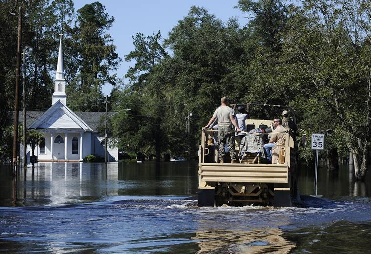 hurricane matthew, north carolina hurricane matthew, hurricane matthew update, hurricane matthew death toll, hurricane matthew devastation, world news, indian express,