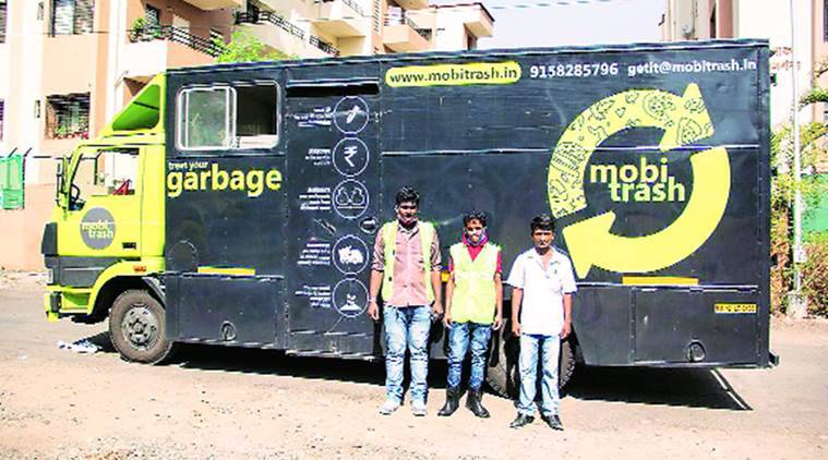 mumbai, mumbai waste management, MobiTrash BMC, bmc waste management, mobile truck waste management, mumbai truck waste management, india news, indian express news