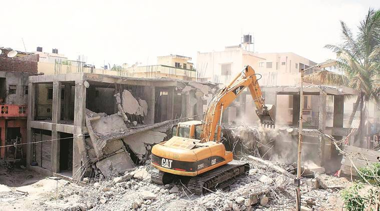 illegal construction news, india news, indian express news
