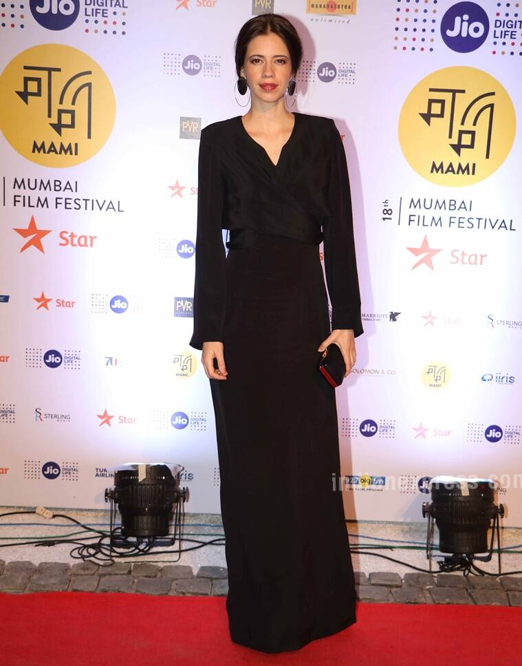 kalki Koechlin looked prefect in an all black number. (Source: Varinder Chawla)
