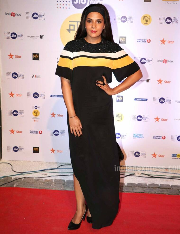 Richa Chadda's look bordered more on the athleisure side. (Source: Varinder Chawla)