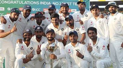 India vs New Zealand: Virat Kohli and co. celebrate post whitewash, no. 1 Test ranking