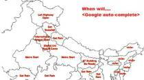 'When will ...': This India map shows Google auto-complete results, and it's SO cool