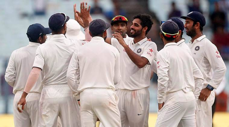 bhuvneshwar kumar, kumar, bhuvneshwar, india vs new zealand, india vs new zealand second test, kolkata test, eden gardens test, twitter, cricket news, sports news