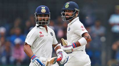 india vs new zealand, ind vs nz, ind vs nz 3rd test, ind vs nz indore, ind vs nz 3rd test photos, ind vs nz test photos, virat kohli, rahane, vijay, kane williamson, India cricket, cricket photos, cricket newws, cricket