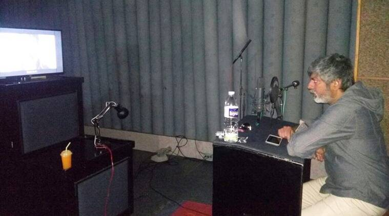Jagapati Babu in the sound room. (Source: FB)
