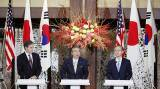 Japan, US, South Korea agree to step up pressure on North Korea to shun nuclear weapons