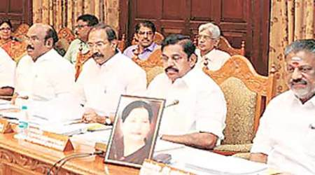 Amma's image before him, OPS chairs a 'long' cabinet meeting