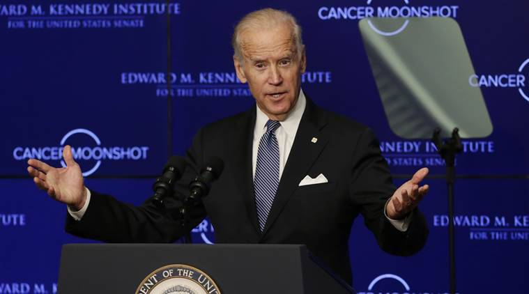 Joe Biden, Joe Biden US Vice President, Cancer moonshot, Cancer cure, Health care, Obama Care, US Senate,Barack Obama, cancer, World news, Indian express news