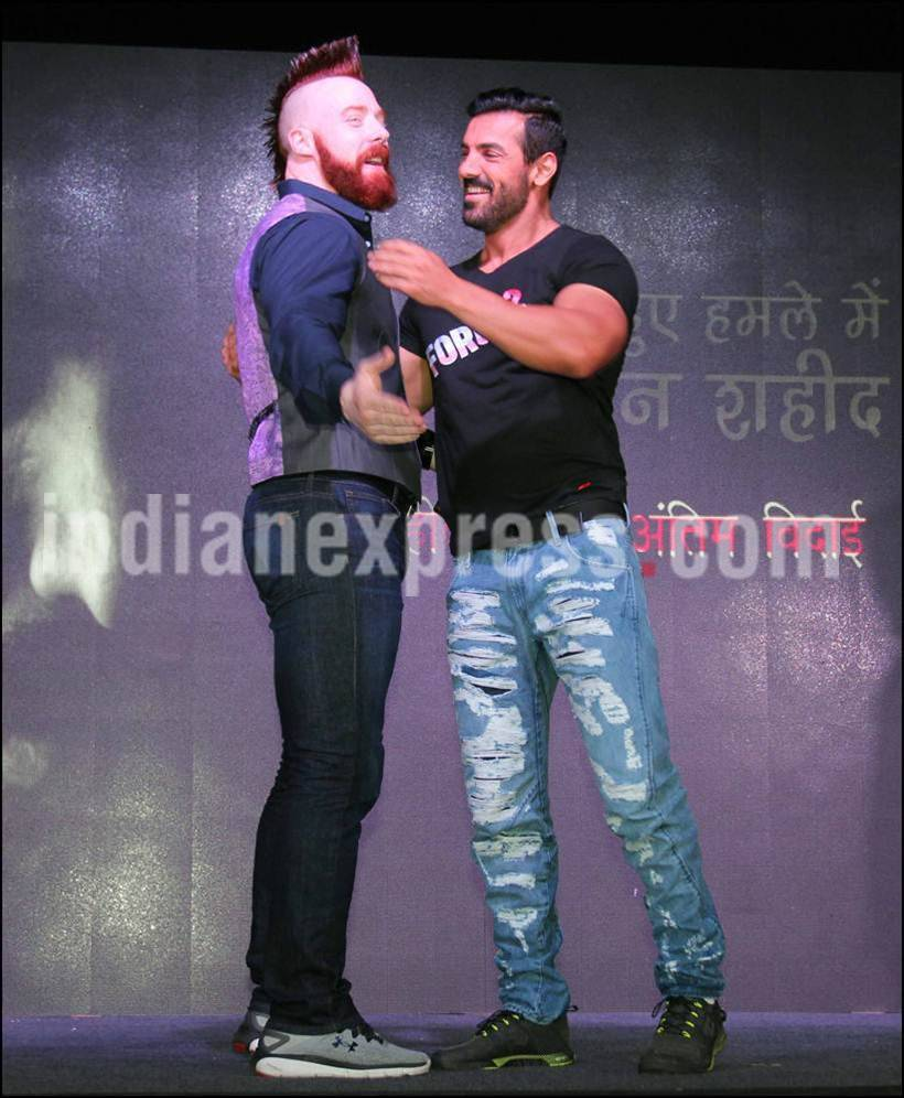 photos force 2 actor john abraham challenged by wwe champion