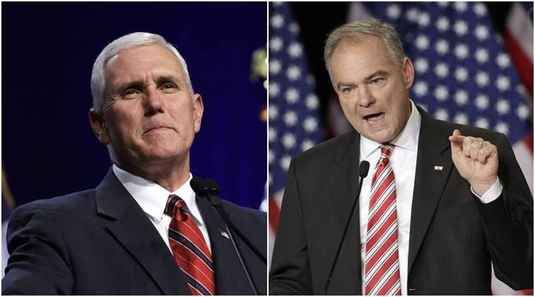 vice presidential debate, us vice presidential debate, tim kaine, mike pence, hillary clinton, donald trump, us elections 2016, us elections, us elections update, news, indian express, world news,