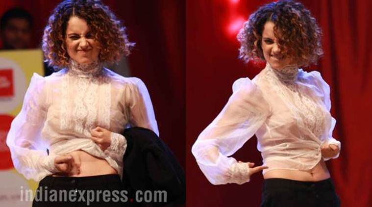 Kangana Ranaut, who has faced comments on her figure.