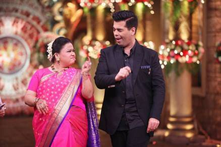 krushna abhishek, karan johar, comedy nights bachao taaza, colors channel, sudesh, bharti singh