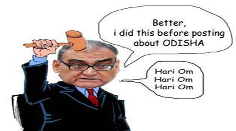 Markandey Katju shared the cartoon on his Facebook page