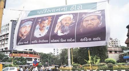Surat rally: Ahead of Arvind Kejriwal's visit, banners feature him with Osama bin Laden & Hafiz Saeed