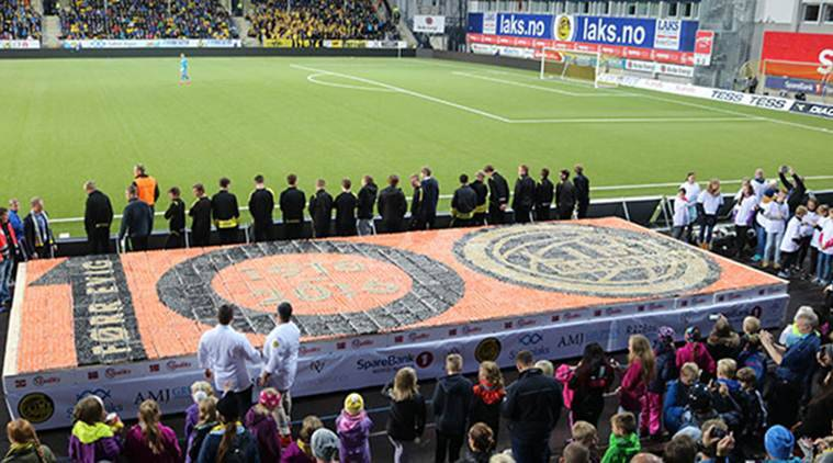 Guinness World Records, Guinness World Records food, mosiac sushi, larget food recaord, norway food record, japan, japanese food, mosaic sushi record, norway football stadium sushi record, bodo glimt football club, food news, latest Guinness World Records, indian express