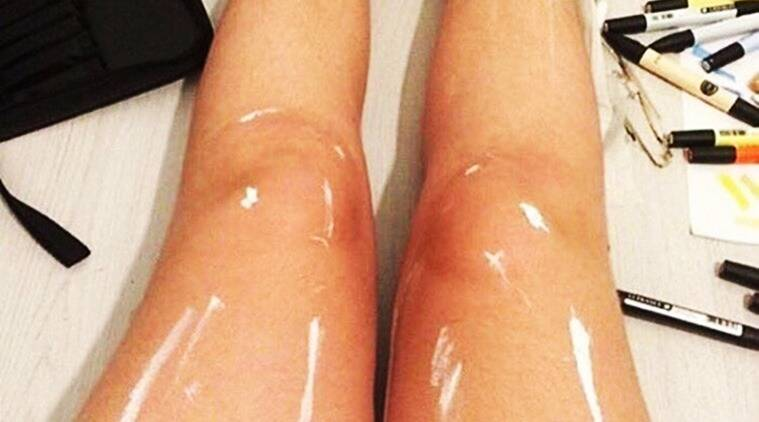 oily legs or painted legs?, #thedress, blue-black dress or white-gold dress, white bag or blue blag, optical illusions, internet viral, trending on internet, trending globally, indian express, indian express news