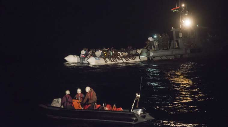 Libya migrants, Italy migrants, italy coast guard, libya migrants die, libya coast, libya news, world news, indian express