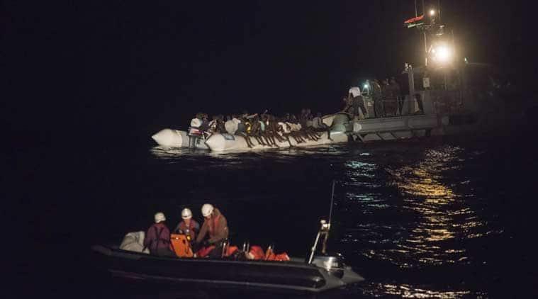 Libya migrants, Libya migrants halt, Libya migrants in Europe, UN on Libya migrants, General Ayoub Qassem, world news, indian express news