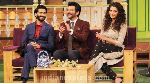 Anil Kapoor, Anil Kapoor pics, mirzya, mirzya cast, mirzya pics, mirzya movie, The Kapil Sharma mirzya, mirzya The Kapil Sharma, Saiyami Kher, Saiyami Kher pics, Saiyami Kher images, Harshvardhan Kapoor, Harshvardhan Kapoor pics, Harshvardhan Kapoor mirzya, mirzya Harshvardhan Kapoor, Amitabh Bachchan, entertainment photos, indian express, indian express news