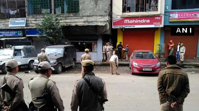 Police at the location where the blasttook place. (Source: Twitter/@ANI_news)
