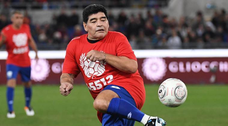 Image result for diego maradona indian express