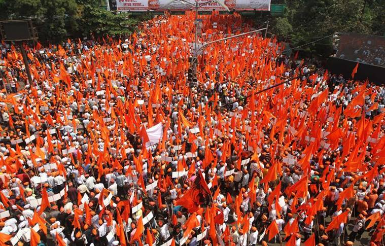 maratha, maratha rally, maratha march, mumbai maratha march, reservation, maratha quota, maratha agitation, maratha silent march, maratha job demand, indian express news, india news, mumbai news