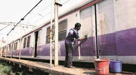 185 janitors to clean rakes of pan stains, dirt every night from Mumbai local trains