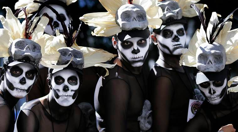 Halloween, Day of the dead, Mexico halloween, Mexico day of the dead parade, Day of the dead halloween, Day of the dead zombies, news, latest news, world news, international news, Mexico news