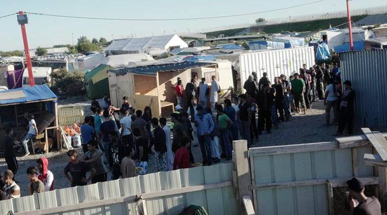 France, UK, refugee crisis, migrant crisis, Calais, Calais refugee camp, migrant camp children, Jungle camp, France news, UK news, world news, latest news, Indian express