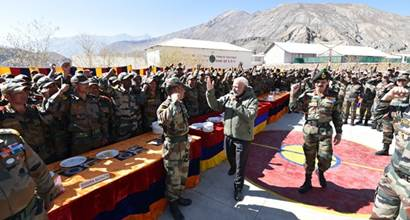PM Modi celebrates Diwali with Indian Army in Himachal Pradesh