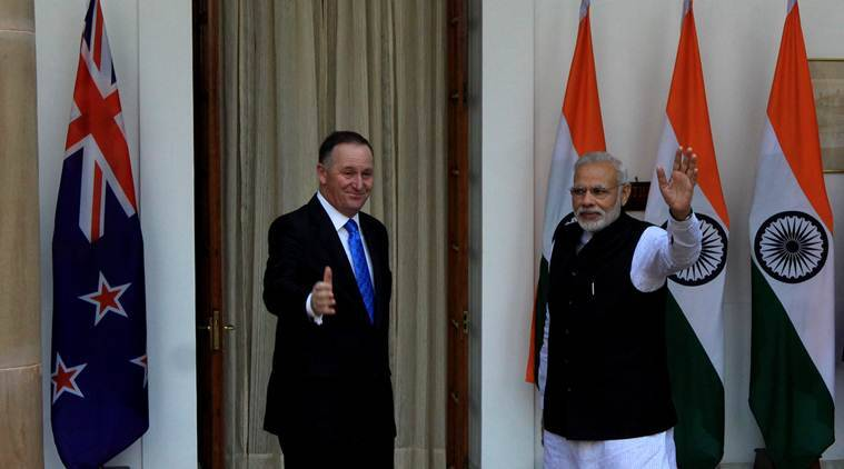 India vs New Zealand, Ind vs NZ, Ind vs NZ Cricket, Ind vs NZ 4th ODI, Narendra Modi, modi, John Key, Key, Cricket news, Cricket