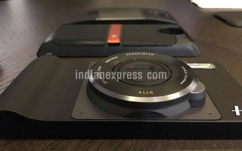 Moto, Mot z, lenovo, moto z india launch, moto z play, moto z launch, moto z play india launch, moto z price, moto z play india price, moto mods, moto mods specs, moto mods price, moto mods price india, hasselblad mod price india, JBL speaker mod india price, smartphone, technology, technology news, indian express
