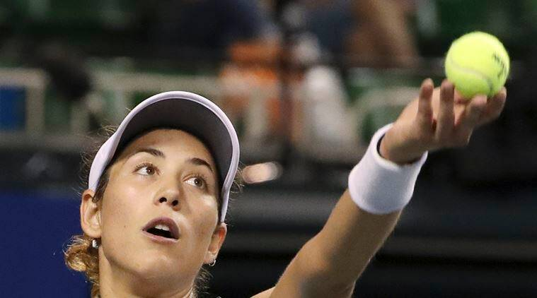 Muguruza was a late entry to the event after U.S. Open finalist Karolina Pliskova pulled out. (Source: AP)