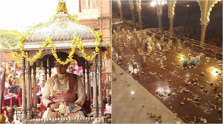 dussehra, mysore palace, mysuru dasara, mysore dasara, mysore palace dussehra celebrations, mysore cleanest city, mysore royal family, mysore king palace littering, mysore news, karnataka news, india news, latest news