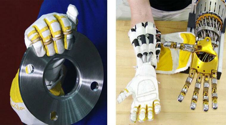 NASA, General motors, GM, Bioservo technologies, robotic gloves, NASA RoboGlove, Servo extra muscle, artificial tendons, motor-driven gloves, assembly line gloves, assembly lines, cars, car manufacturing, technology, science, science news