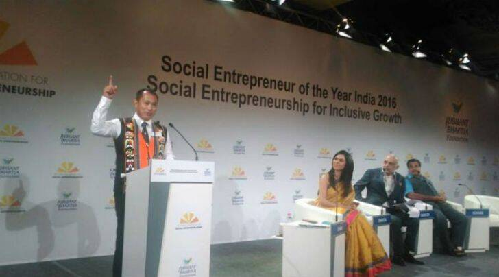 Neichute Doulo, a former lecturer in Economics at Baptist College in Nagaland, won the 'Social Entrepreneur of the Year Award 2016' given by the Schwab Foundation, which works closely with the World Economic Forum, in partnership with Jubilant Bhartia Foundation.