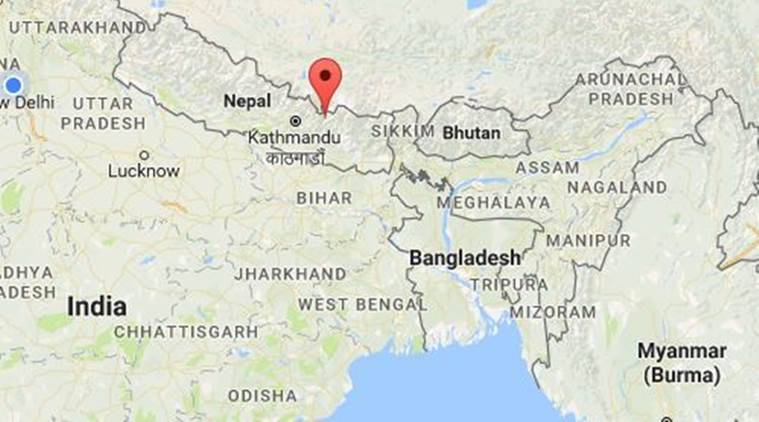 Nepal Magnitude Aftershock Jolts The Country The Indian Express - What country is nepal in