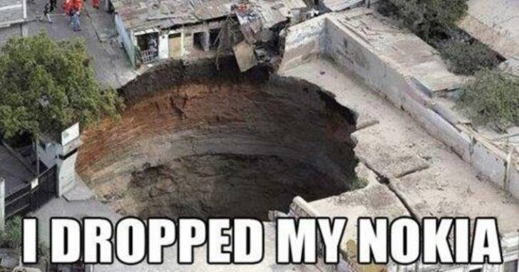 Sometimes it will just create a meteoroid crater instead. (Source: Nokia Memes/Facebook)